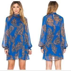 Moonstruck Mini Dress in Cobalt W pockets size M